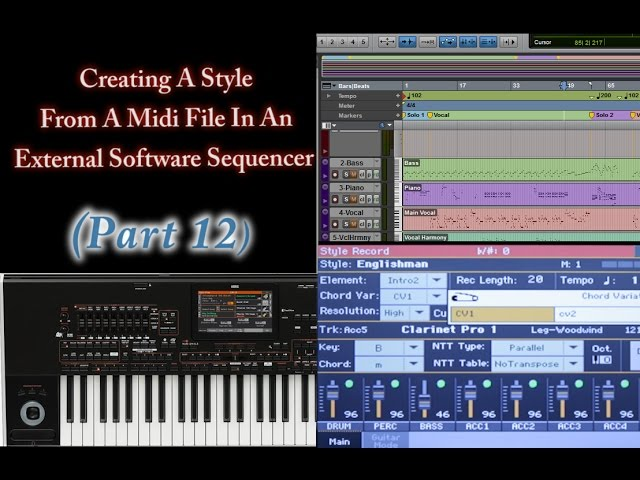 Part 12-Importing the midi file in Style Record mode - Korg Pa Arranger keys