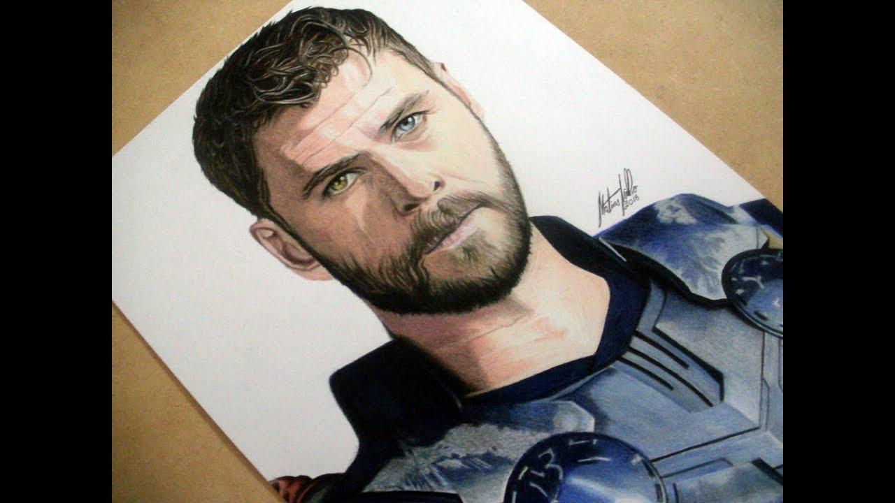 Dibujo A Thor Avengers Infinity War Youtube