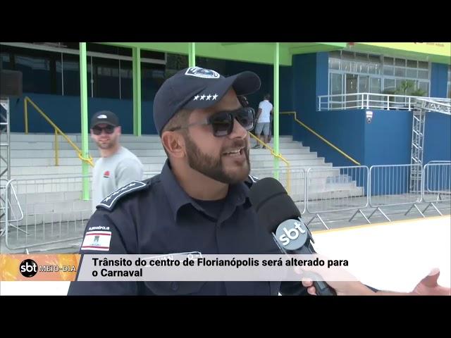 Conheça as mudanças no trânsito do centro de Florianópolis para o carnaval 2019