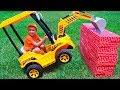 Tractor Breaks Down The Walls - Vlad Ride On Power Wheel To Help Kid