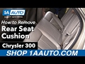 How to Remove Rear Seat Cushion 05-10 Chrysler 300
