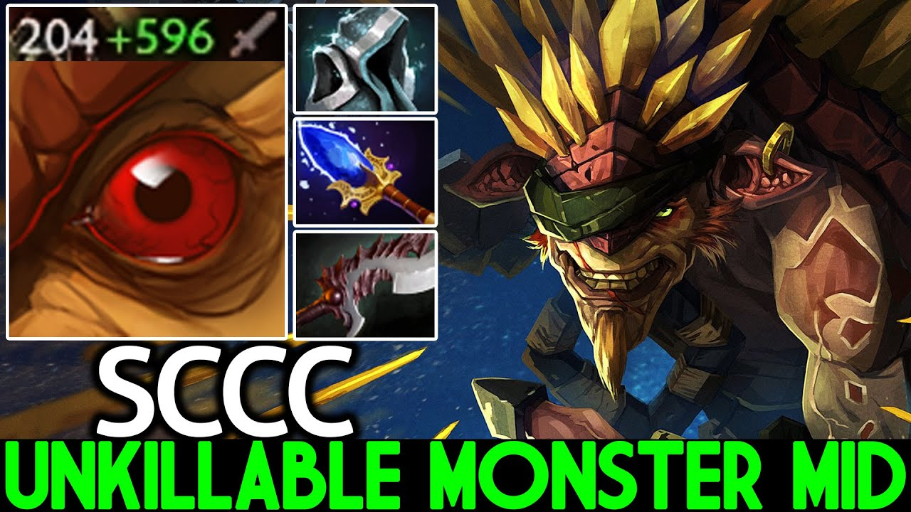SCCC [Bristleback] Unkillable Monster Mid Raid Boss Build Dota 2