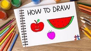How to Draw Fruits Step-By-Step | Como Desenhar Frutos