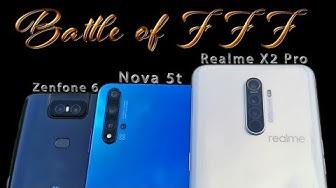 Battle of Five Foot Flagship #1 | Realme X2 Pro - Huawei Nova 5t - Asus Zenfone 6 Indonesia