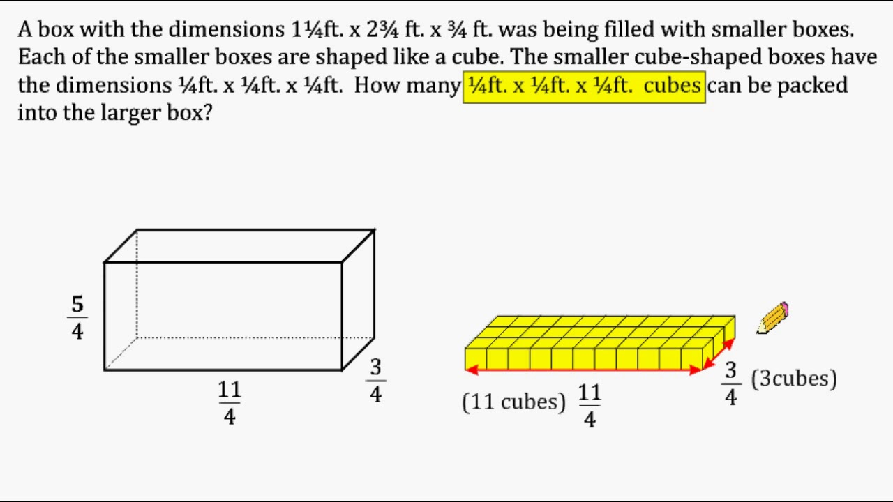 Volume Word Problem - Packing Cubes Into A Rectangular Prism - YouTube [ 720 x 1280 Pixel ]