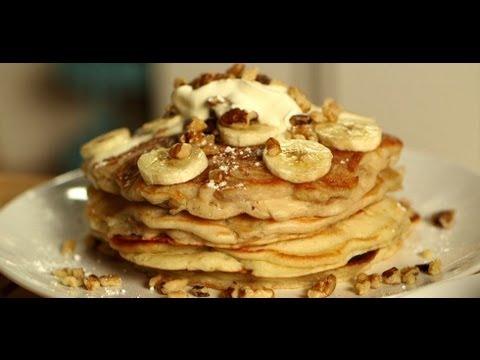 Pancakes 3 Ways: Banana Walnut, Chocolate Chip, and Blueberry Ricotta | Food How To