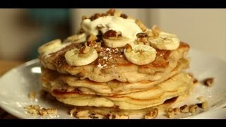 Pancakes 3 Ways: Banana Walnut, Chocolate Chip, And Blueberry Ricotta | Food How To