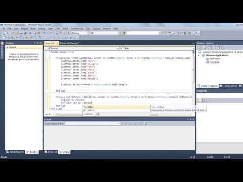 Cara Menggunakan Listbox Pada Visual Basic 6.0