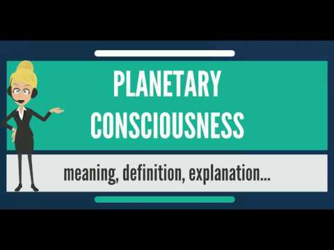 What is PLANETARY CONSCIOUSNESS? What does PLANETARY CONSCIOUSNESS mean?