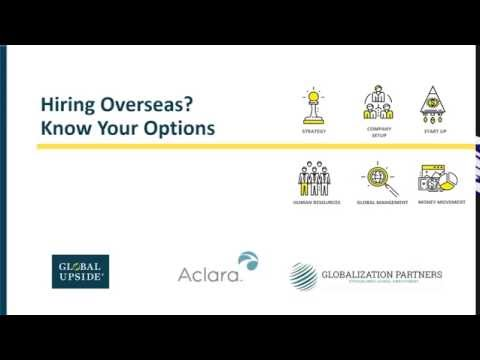 Need to Hire Overseas Fast  Know your Options