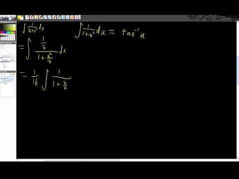 Integral of 1/(16+x^2) dx.