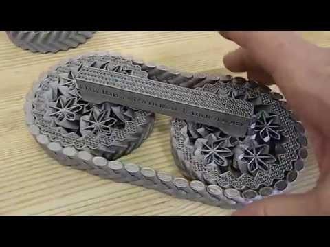 3D-Printed Titanium Planetary Gears and Chain at Oak Ridge National Laboratory