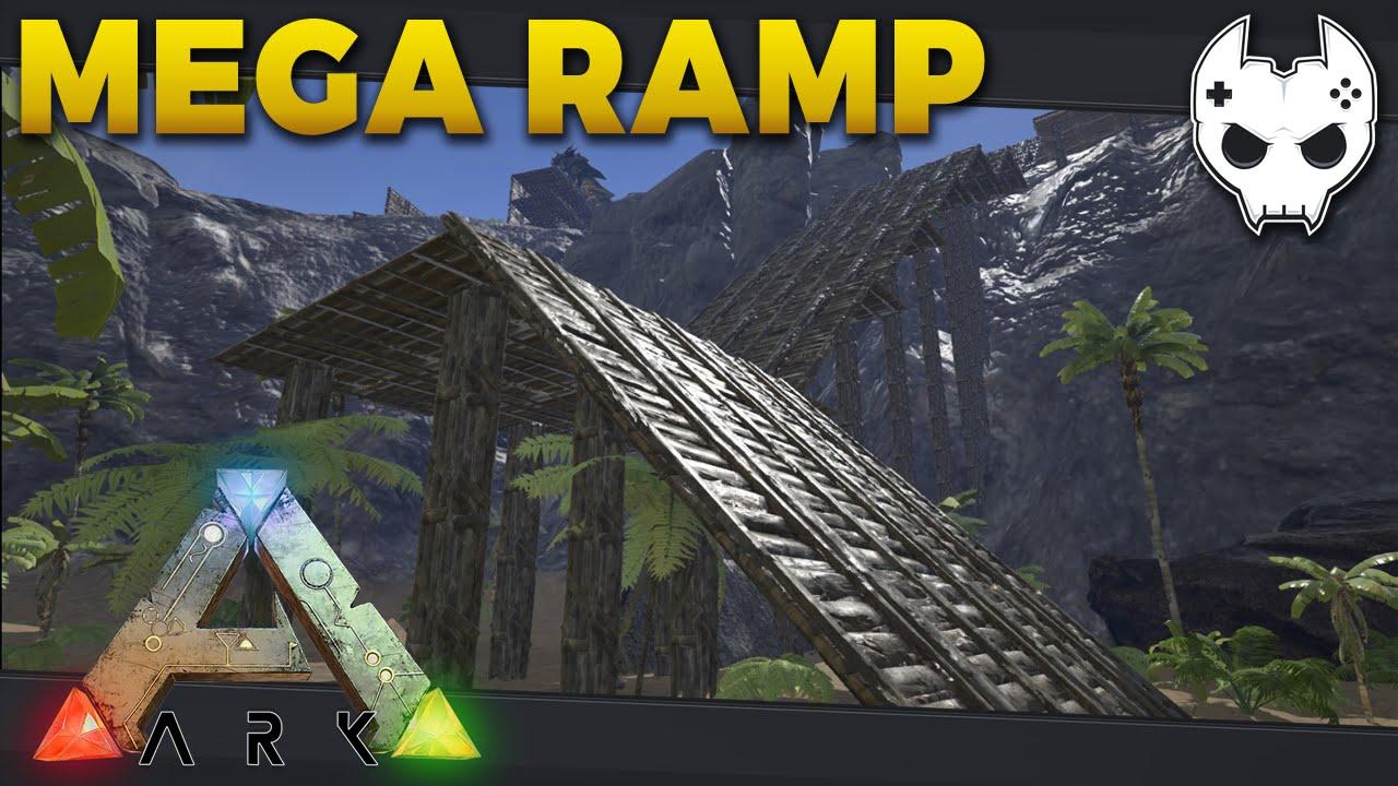 ARK: Survival Evolved - MEGA RAMP BUILD - S3E17 - Let's Play Gameplay