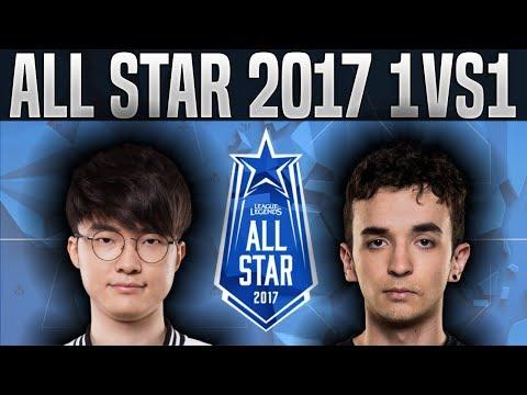 Faker Nasus vs VVvert Varus (1vs1) Faker vs VVvert - 2017 All-Star Event Day 1 - LOL All Star 2017