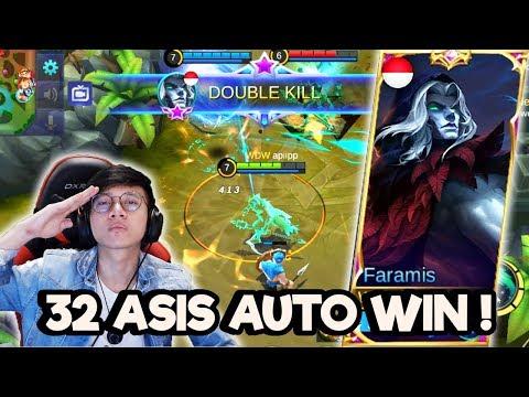 32 ASIS PAKE FARAMIS INI HERO SUPPORT TERGILA ! - MOBILE LEGENDS INODNESIA