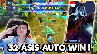32 ASIS PAKE FARAMIS INI HERO SUPPORT TERGILA ! - MOBILE LEGENDS INODNESIA