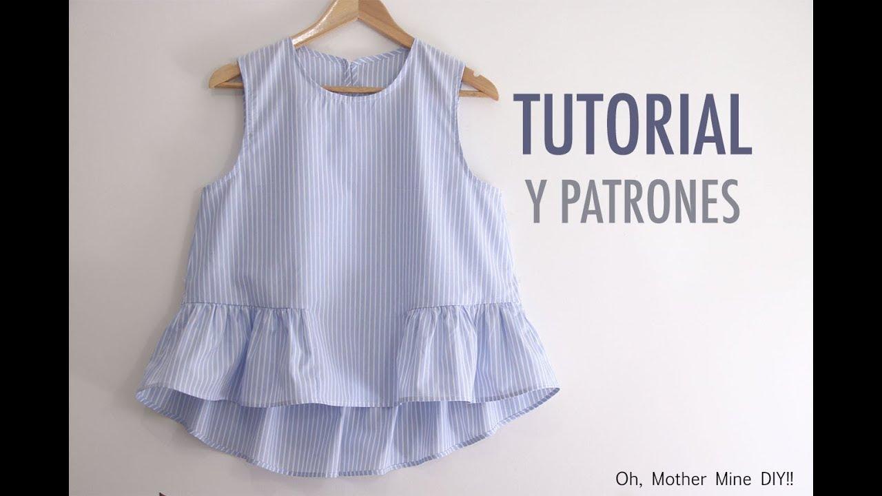 Aprender A Coser Blusa Para Mujer Patrones Gratis Youtube
