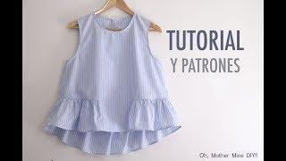 aprender a coser blusa para mujer patrones gratis