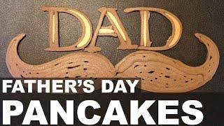 Father's Day Pancake Art