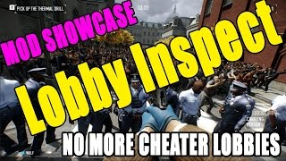 Say No to Cheaters! - Lobby Inspect - Payday 2 Mod Showcase #9