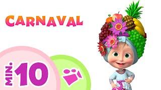 Gambar cover TaDaBoom Español 🌸💃 CARNAVAL 💃🌸 Canciones infantiles 🎶 Masha y el Oso 🐻👱♀️