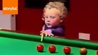 Talented Toddler Is Excellent Pool Player (Storyful, Baby)