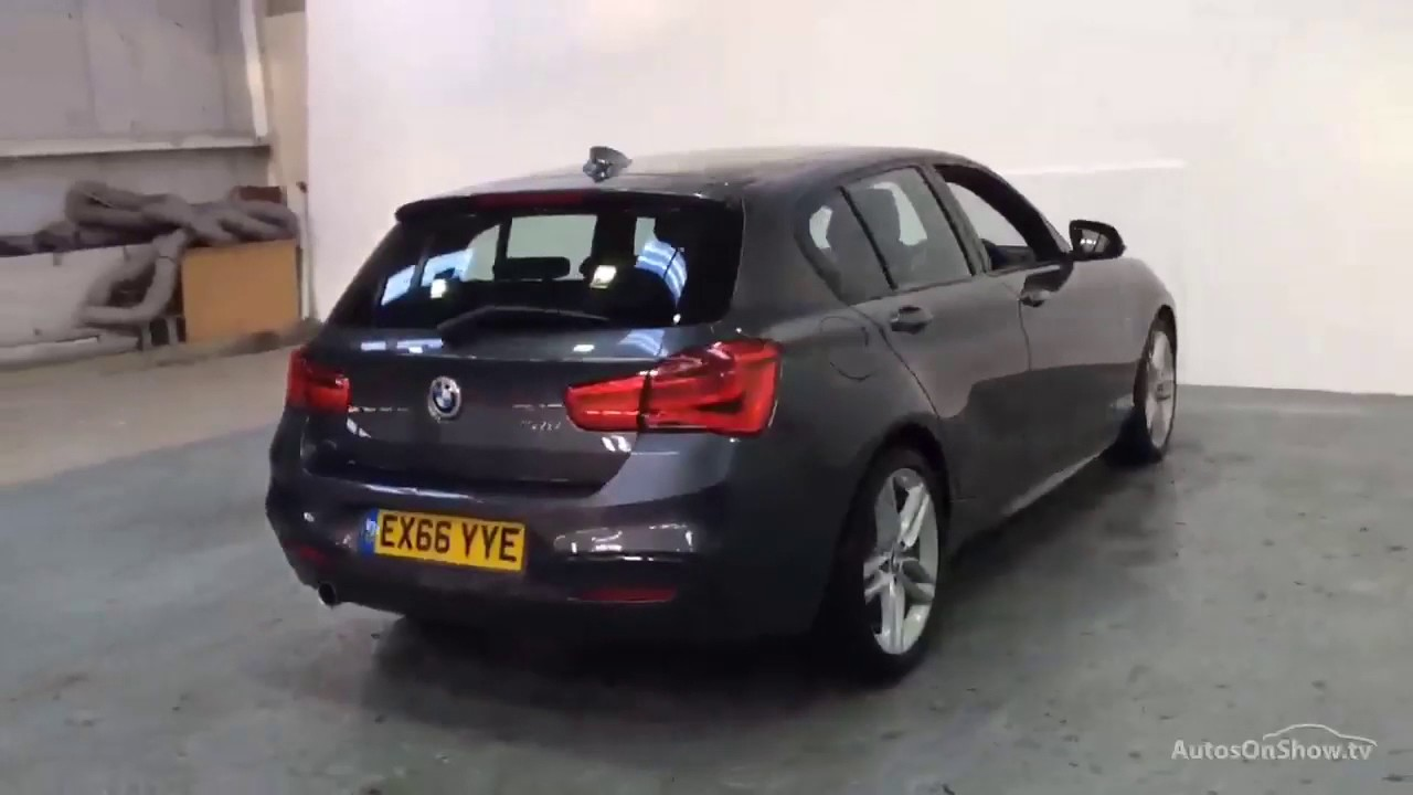 bmw 1 series 116d m sport grey 2016 youtube. Black Bedroom Furniture Sets. Home Design Ideas