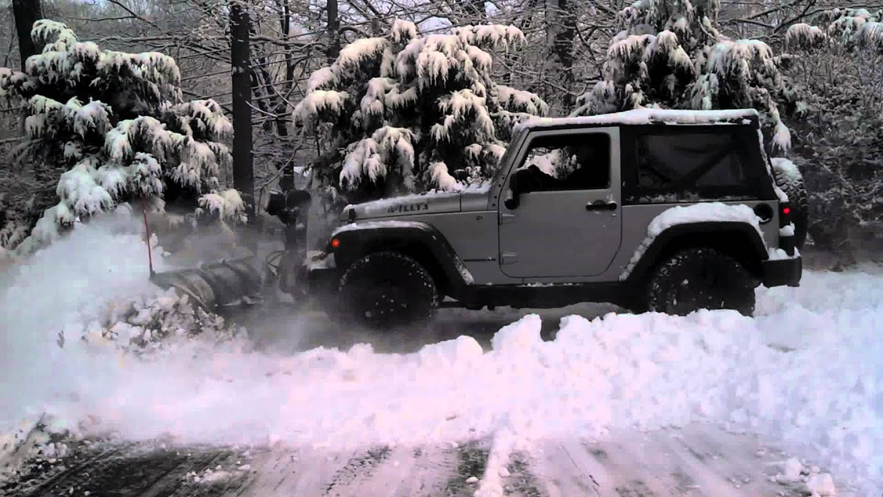 boss snow plow jeep wrangler youtube. Black Bedroom Furniture Sets. Home Design Ideas