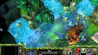 Warcraft III - The Frozen Throne (кампания эльфов, начало)