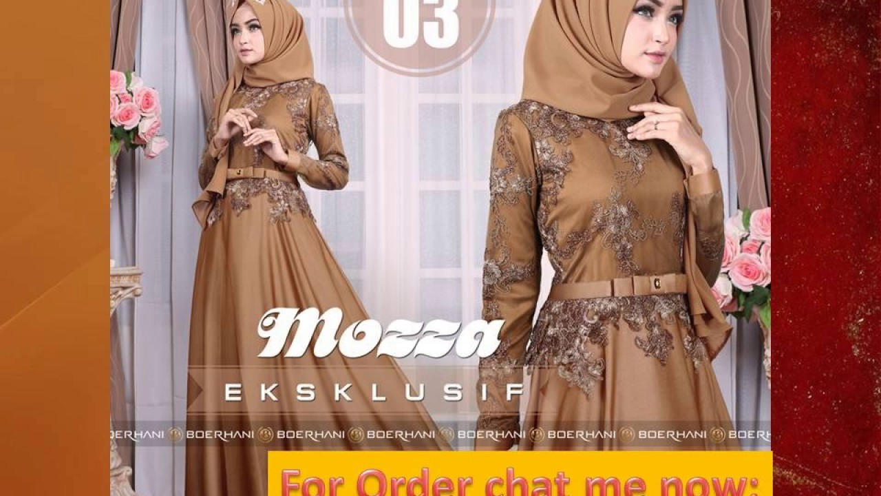 0475db4570d4 Model Baju Pesta Muslim 2017