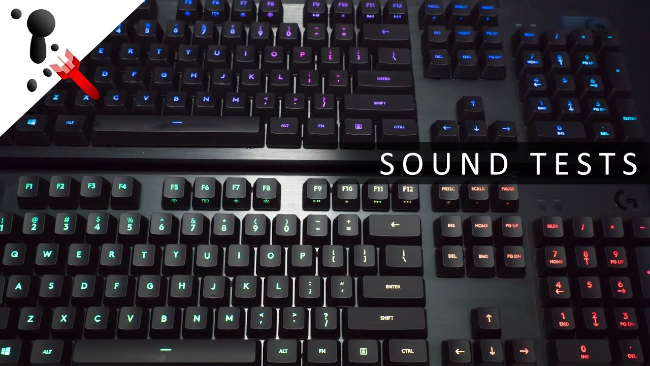 Logitech Romer-G Linear VS Tactile Typing and Sound Test VS MX Silent