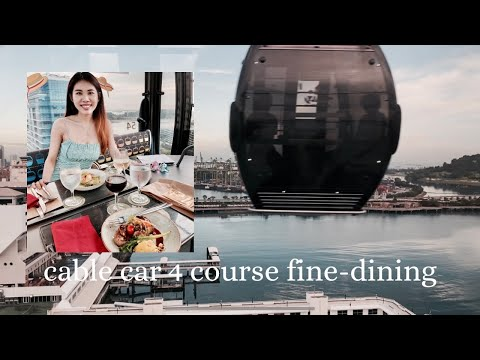 Singapore cable car fine dining 🚡