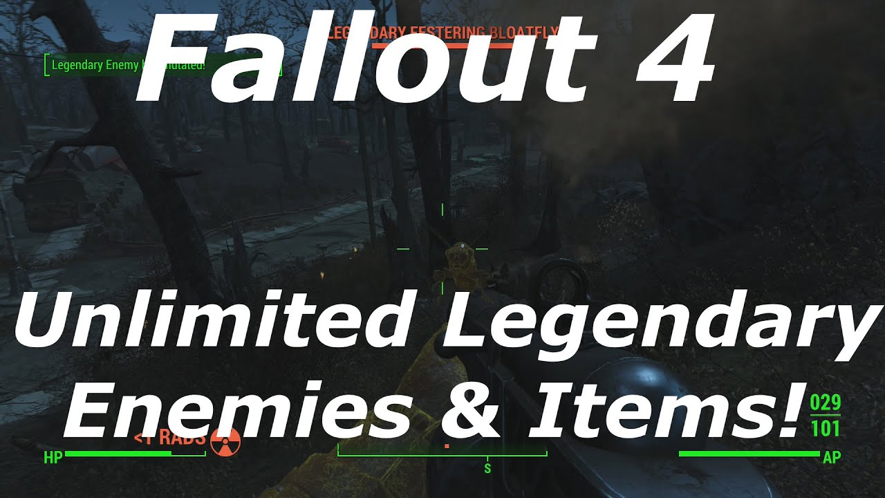 how to make legendary weapons fallout 4