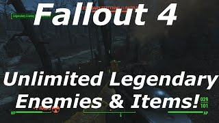 Fallout 4 How To Spawn Infinite Legendary Enemies! Easily Farm Unlimited Legendary Weapons & Armor!