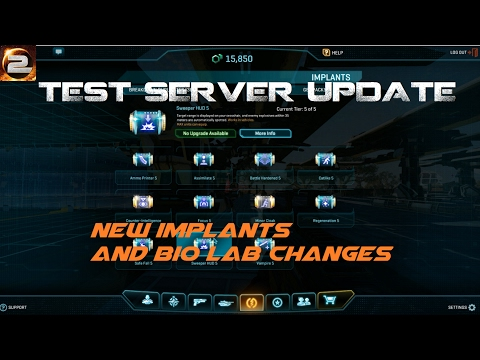 PlanetSide 2 Test Server Updates New Implant System, NSX TANTO, Bio Lab  changes Jan 25th 2017