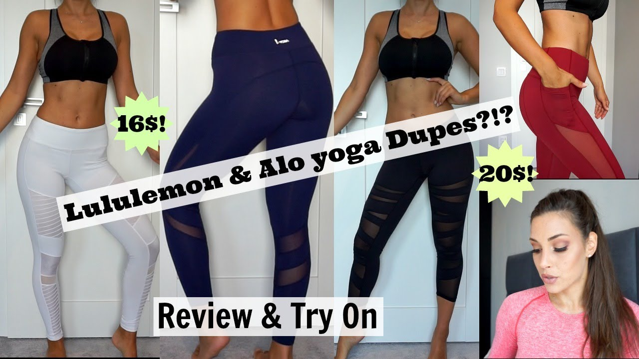 0669e0eaea1ef 16$ Lululemon & Alo Yoga Dupes?? - Reviw & Try on - Aliexpress by ...