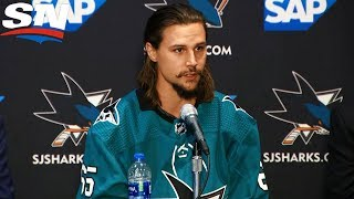 Erik Karlsson Joins San Jose Sharks FULL Press Conference