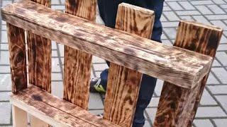 Regal aus Palette veredeln mit Bunsenbrenner - Homemade Selfmade Schrank uas Europalette 4k UHD