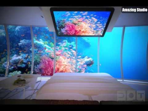Unterwasser Aquarium Schlafzimmer Walls - YouTube