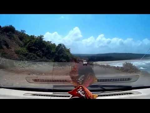 A glimpse of the stunning aarey warey coastal road   Ganpatipule to Ratnagiri