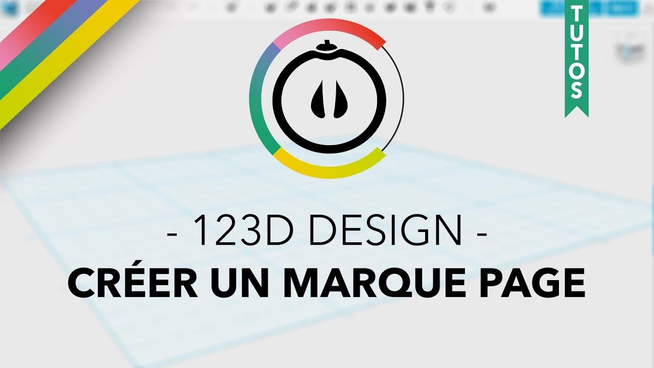 tuto 123d design cr er un marque page youtube. Black Bedroom Furniture Sets. Home Design Ideas