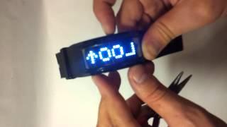 Обзор оригинальных LED часов браслета с бегущей строкой