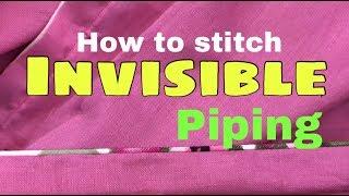 Invisible Piping On slits Simple & Easy Method   पाइपिंग लगाने का सबसे आसान तरीका    #6