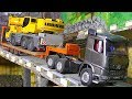 RC Crane Transport! Loses hydrulic oil! Rc Trucks! RC Machines! RC Action! RC
