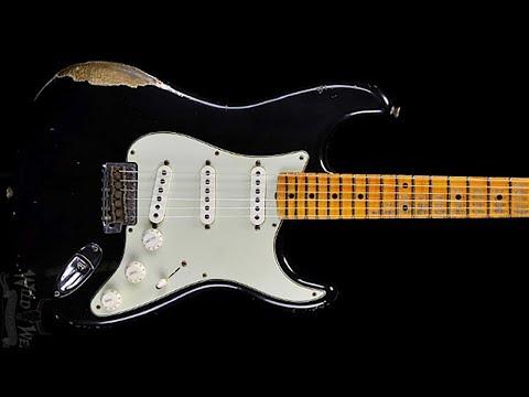 Blues Rockin' Guitar Backing Jam Track (D)