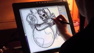 """Demograffik™ Playing Cards: Joker Illustration """"Time-lapse"""""""