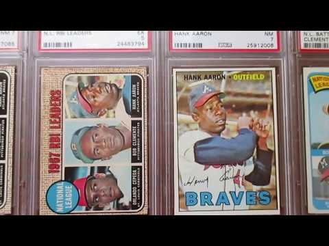 Hank Aaron PSA graded baseball card collection