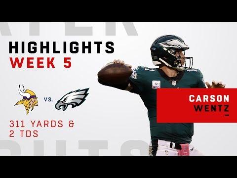 Carson Wentz's 311 Yards & 2 TDs vs. Vikings