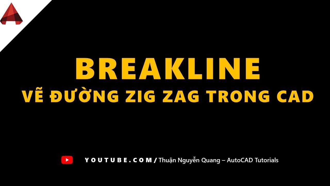 [ Express Tools ] Cách vẽ đường zic zac BreakLine trong AutoCAD ( Draw lines ziczac in autocad)