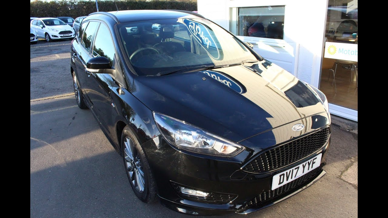 Ford Focus St Line Estate In Panther Black Winford Ford